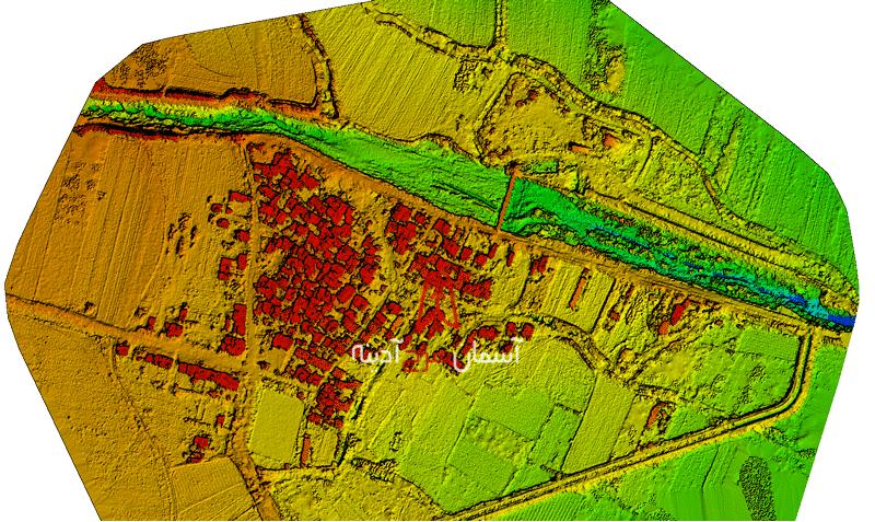 نقشه رقومی از حاشیه یک رودخانه