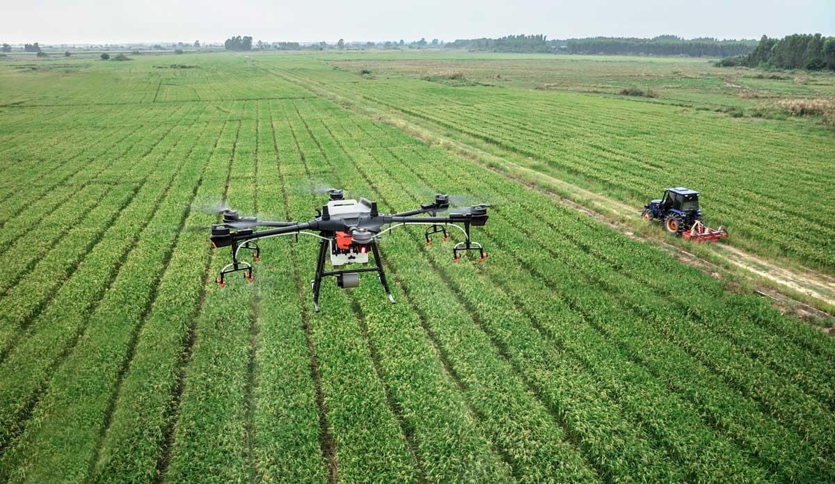 سمپاشی هوایی با پهپاد کشاورزی