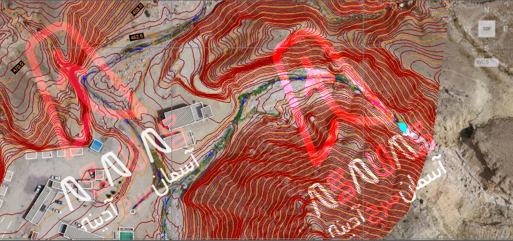 نقشه برداری با پهپاد - نقشه توپوگرافی topography